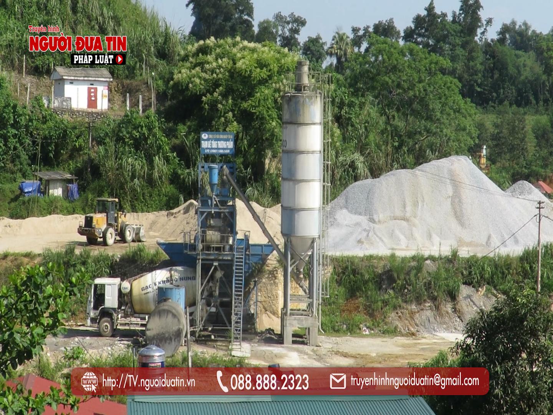 ty 232 tự ý cho Công ty Cổ phần công nghiệp Tân Hà thuê 4.000m2 đất để xây dựng nhà xưởng, trạm trộn bê tông tươi
